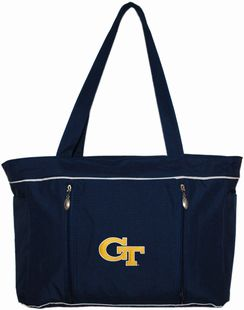 Georgia Tech Yellow Jackets Baby Diaper Bag with Changing Pad